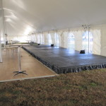 Black Stage with Skirting