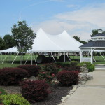 Century Tent Set-Up Next to Gazebo
