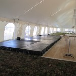 Dance Floor and Stage with Stage Skiirts
