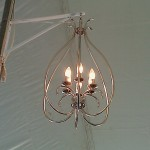 Upside Down Heart Chandelier